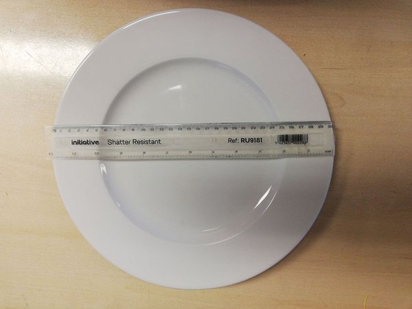 "White 12"" / 30cm plate for sale"