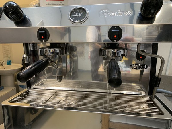 Stainless steel 2 group coffee machine