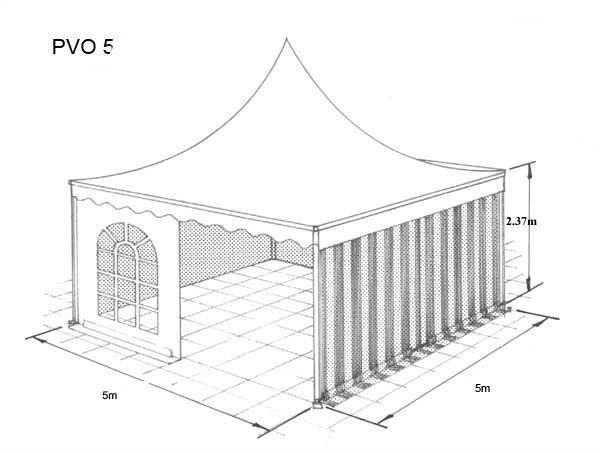 Hoecker PVO 5  5m x 5m Marquee