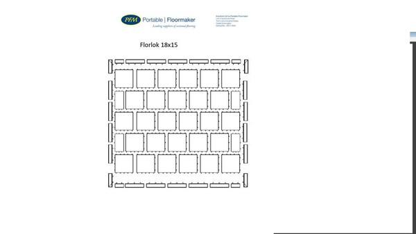 Florlok dance floor construction diagram