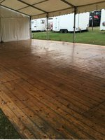 6m Framed marquee with wood floor