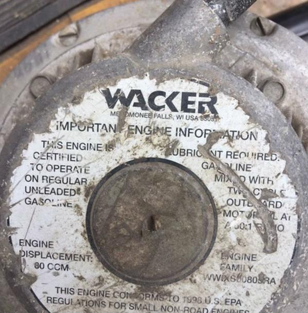 Wacker 2 stroke breaker