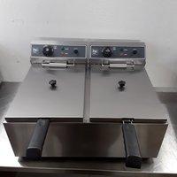 New HC HC-SFE2-17 Double Table Top Fryer 17 + 17L (8444)