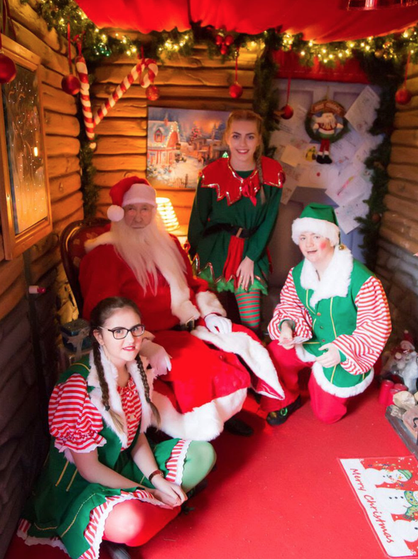 Used Christmas grotto