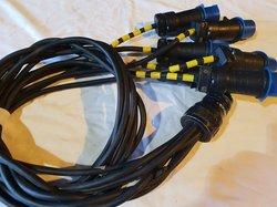 19 pin socapex female to 6 x 16a plugs