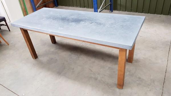 Heavy Duty Zinc Table