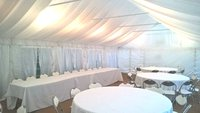 Marquee with lining and floor 6m x 12m