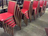 Stackable Red Chairs