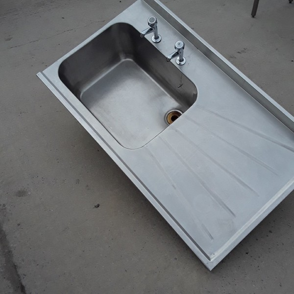 Used stainless steel catering sink