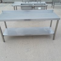 1.8m stainless steel kitchen bench