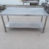 Used   Stainless Steel Table	(8502)