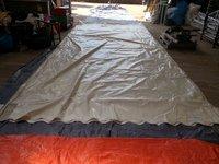 12m x 3m Clearspan, custom covers roof