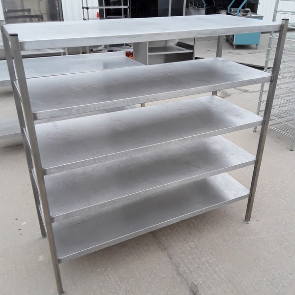 Used Stainless Steel 5 Tier Rack (8500)