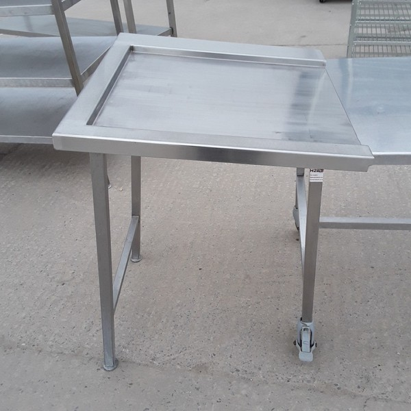 Used Stainless Steel Dishwasher Table (8503)
