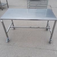 Used Stainless Steel Table Stand 122cmW x 61cmD x 74cmH