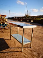 1.2m stainless steel table