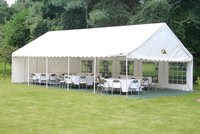 Marquee with lining and floor