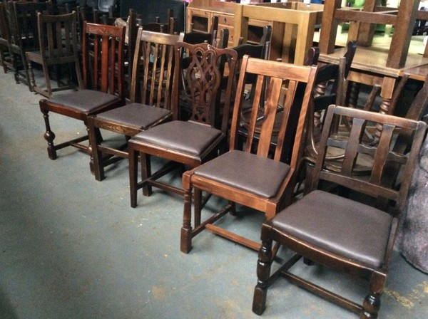 40's Chairs with NEW Upholstery