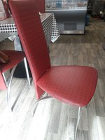 Red High back Cafe Chairs - Cardiff