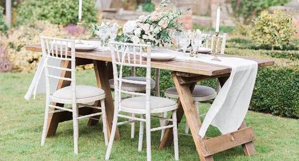Rustic Vintage Style Plank Tables