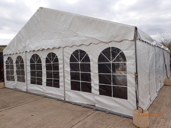 Second Hand Frame Marquee with Cassette Floor 9m x 12m