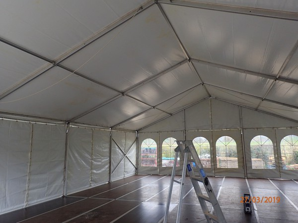 Used Frame Marquee with Cassette Floor 9m x 12m