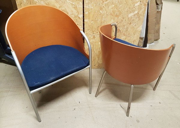 Plywood tub chairs Calligarus