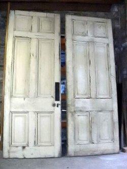 Pair of Georgian Interior Pine Wood Doors