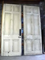 Pair of Georgian Interior Pine Wood Doors