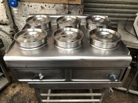 6 pot bain marie for sale