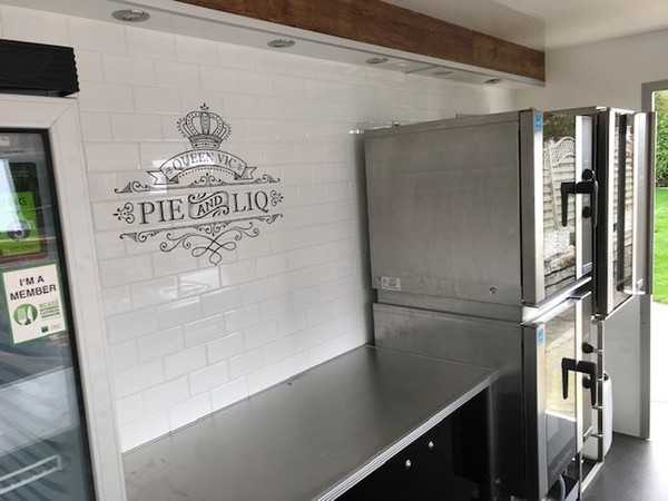 Catering trailer with blue seal ovens