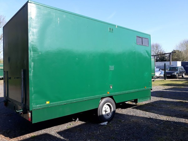 Green toilet trailer for sale