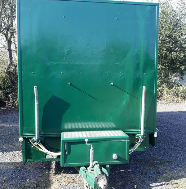 Used portable toilet trailer