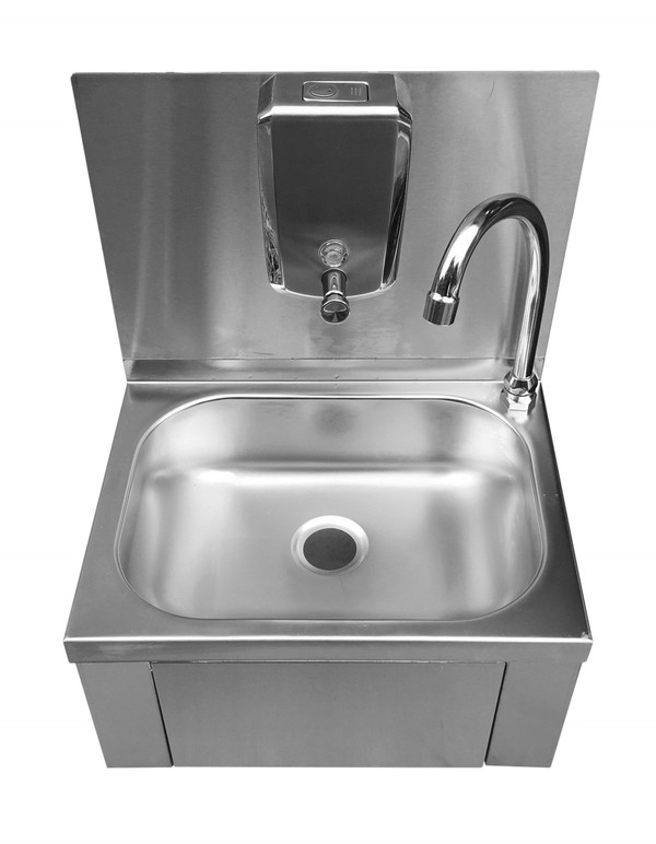 Stainless Steel Knee Operated Hand Wash Sink (A7706)