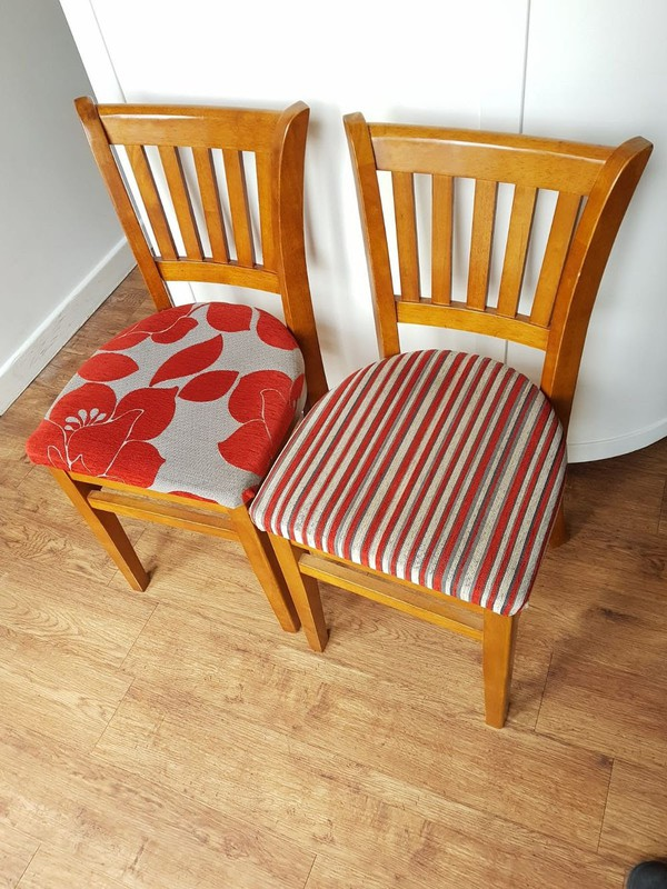 Excellent condition upholstered dining chairs