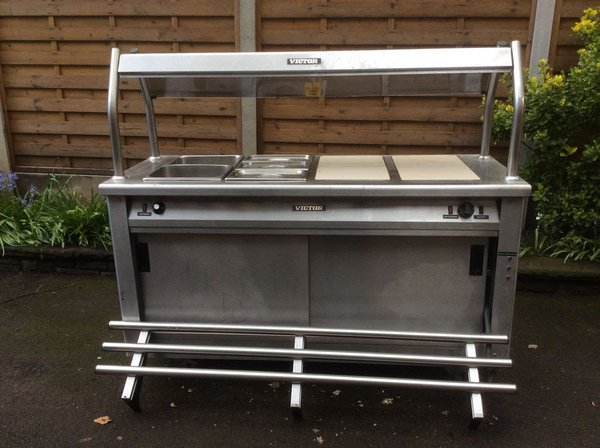 Victor hot cupboard with tray slide