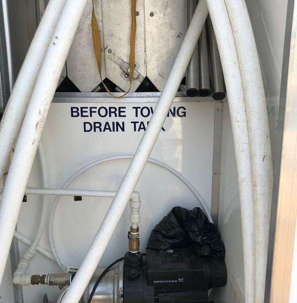Water pump - 4 bay shower trailer