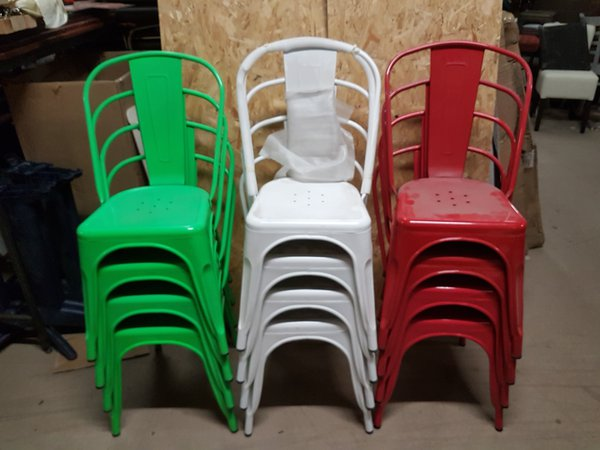 Chairs in the Italian Flag Colours