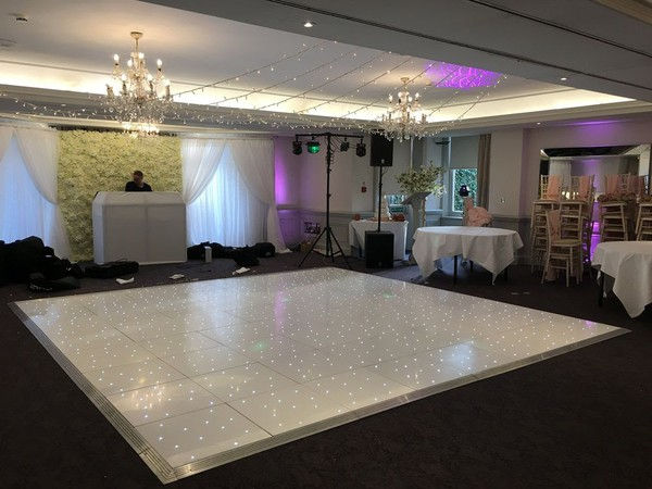 16ft x 16ft White Starlok LED Dance Floor
