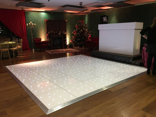 16ft x 16ft White Starlok LED Dancefloor