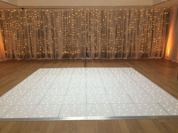 Portable Floormaker 16ft x 16ft White Starlok LED Dance Floor