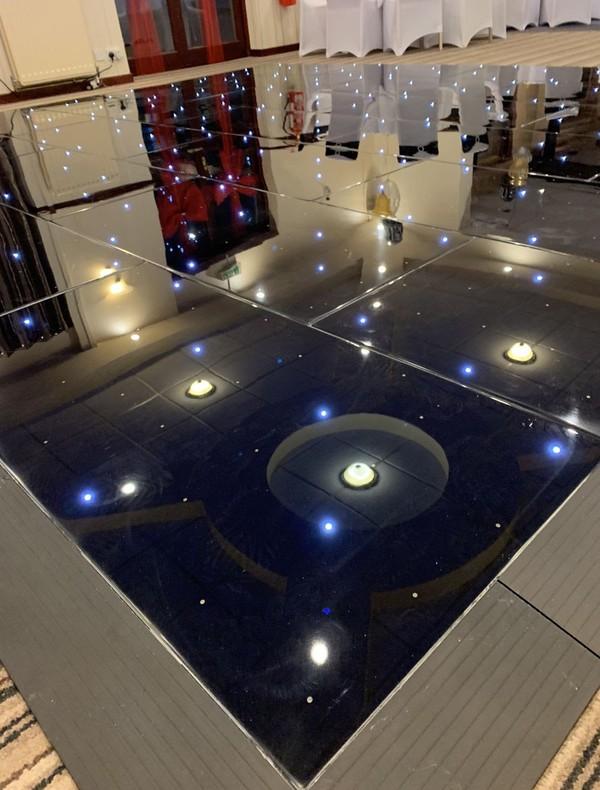 Used Black LED Starlight Dancefloor 16ft x 14ft