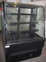 Refurbished Frost Tech 1 Metre Black LED Patisserie Display Chiller