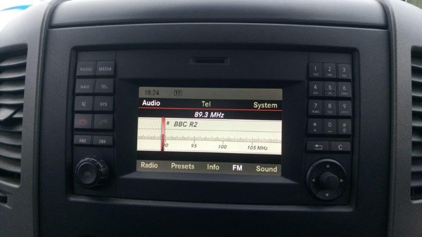 Upgraded radio with sat navigation