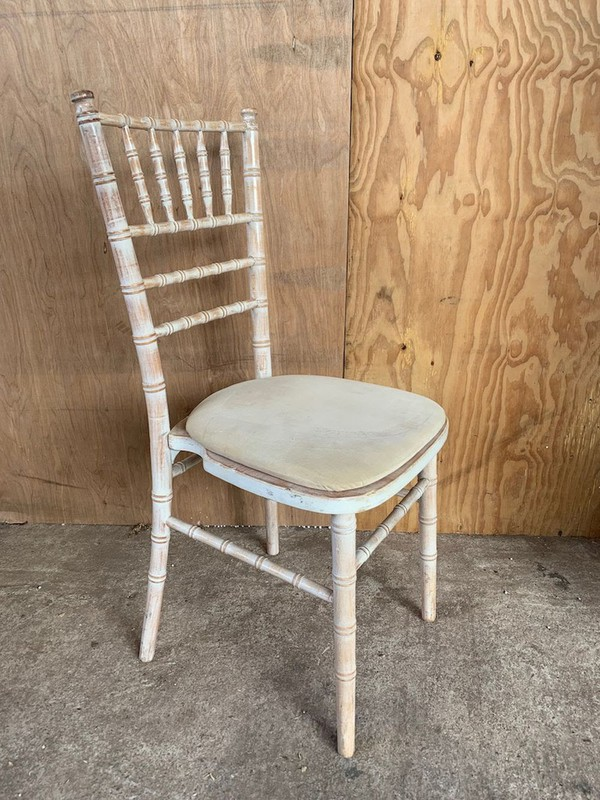 Used Limewashed Chivari Chairs
