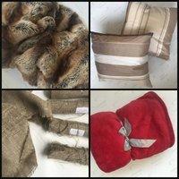 Job Lot of Cushions and Blankets