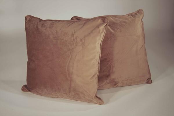 Brown velvit cushions