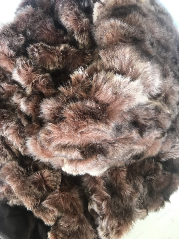Dark brown faux fur