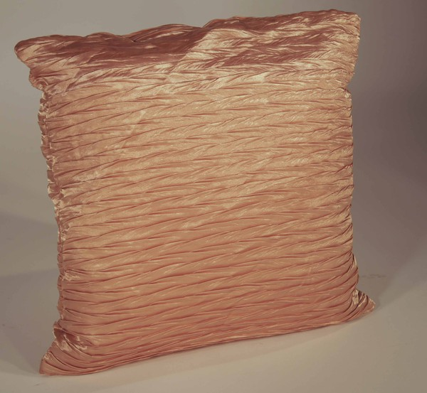 Gold pleated cushions