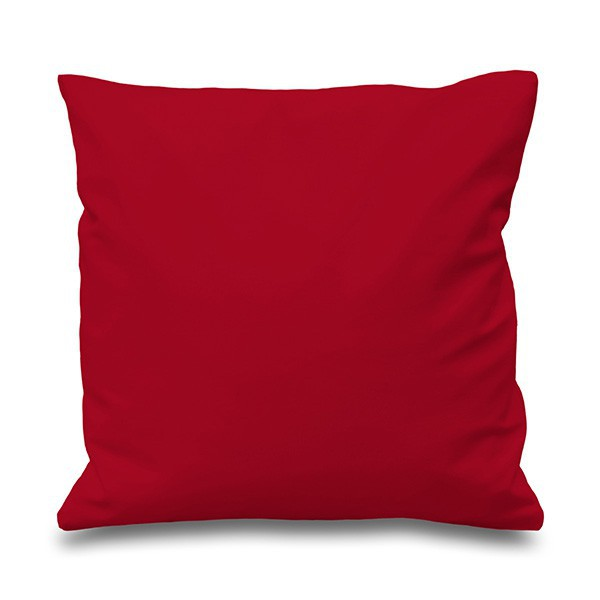 Red cotton cushion with stuffing
